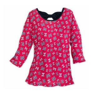 Minnie Mouse Bow Pattern Blouse for Women